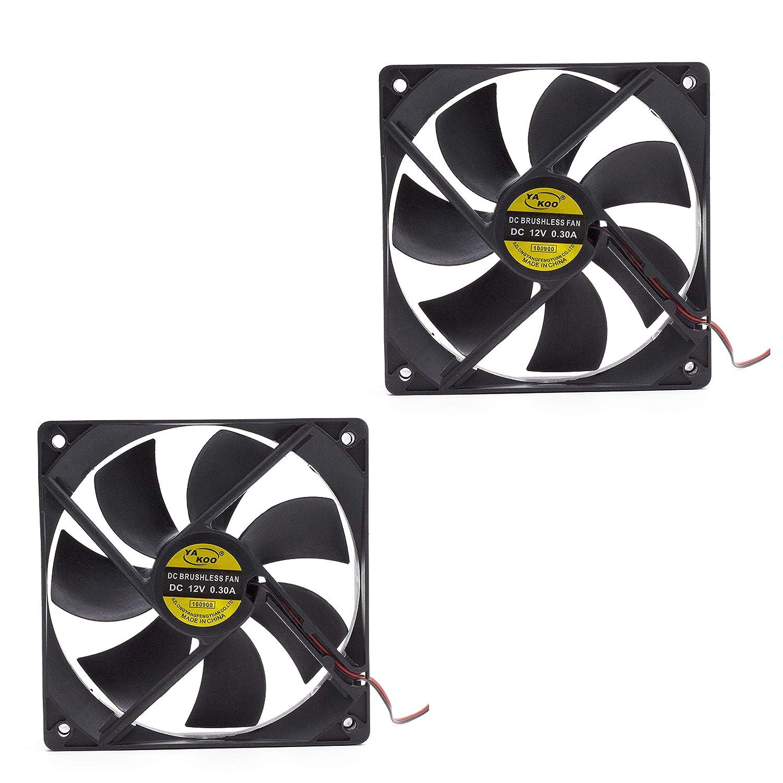 3010-2p Aodesy 2pcs 12V DC Cooling Fan Long Life Sleeve Bearing Computer Case Fan Brushless DC Cooling Fan 30x30x10mm