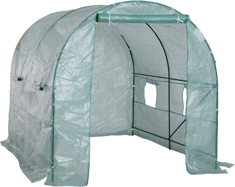 HOMCOM Outsunny Invernadero caseta 250 x 200 x 200 Jardin terraza Cultivo Plantas semilla Nuevo