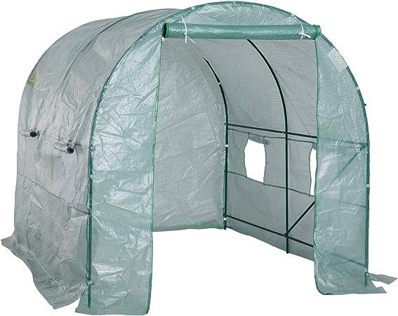 HOMCOM Outsunny Invernadero caseta 250 x 200 x 200