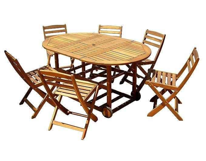 Nueva York Fly (Juego de 1 mesa con 6 sillas) | Acacia mesa ...