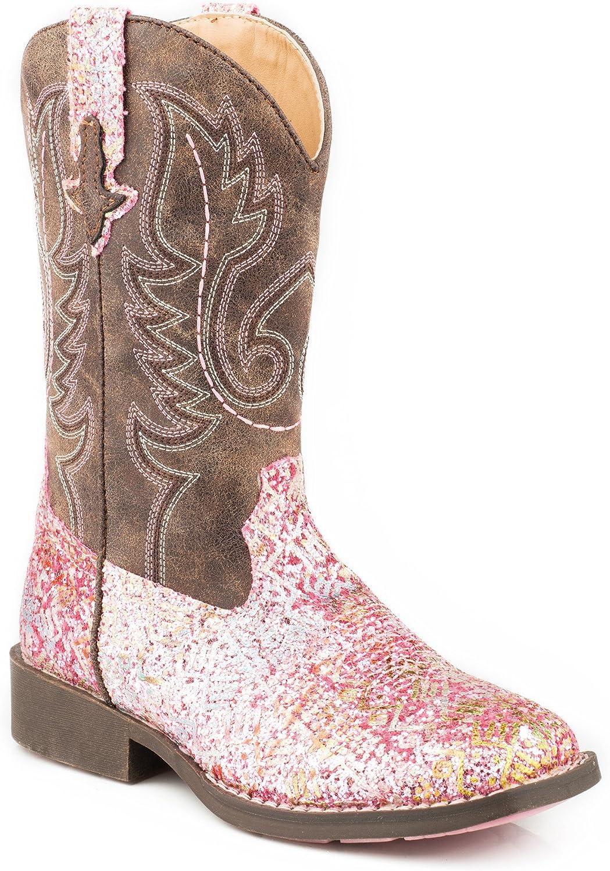 ROPER Girls' Glitter Aztec Western Boot