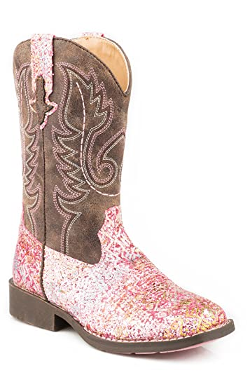 291b49317 Image Unavailable. Image not available for. Color: Roper Footwear Boys Girls  Glitter Boot 13 Pink