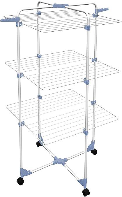 134 opinioni per Gimi Modular 3 Stendibiancheria da Pavimento a Torre in Acciaio, 30 m Stendibili