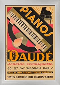Vintage  PIANOS DAUDE Print on Paper or Canvas Giclee Poster 13X18 to 40X55