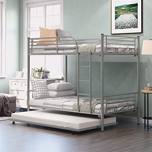 Twin-Over-Twin Metal Bunk Bed