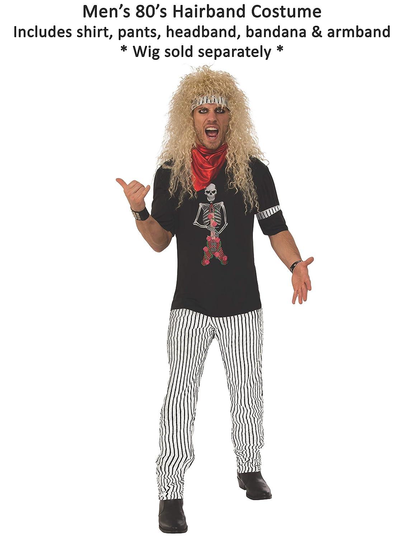 1a6326d95b6f Amazon.com  Rubie s Men s 80 s Hairband Costume