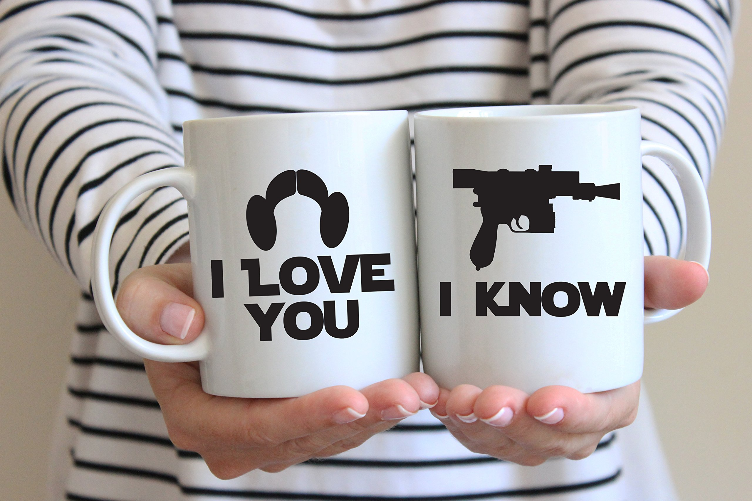 Star Wars Inspired I Love You, I Know Coffee Mug Set of 2 Great Gift for Fans Lovers by Bondi Boutique (Image #3)