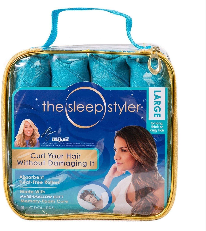 Sleeping Hair Curlers Hair Rollers Sleep Styler Nighttime No Heat No Damage Hair Curling Magic Curlers For Long Hair Salon Amazon Co Uk Beauty