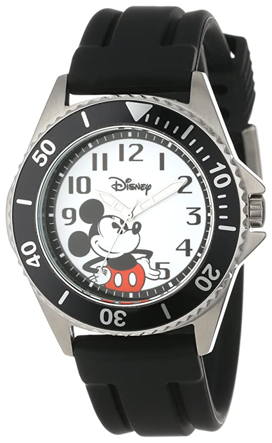Disney Men's W000507 Mickey Mouse Honor Rubber Strap Watch