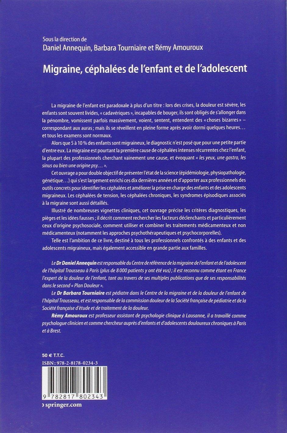 Amazon.fr - Migraine, céphalées de l'enfant et de l'adolescent ...