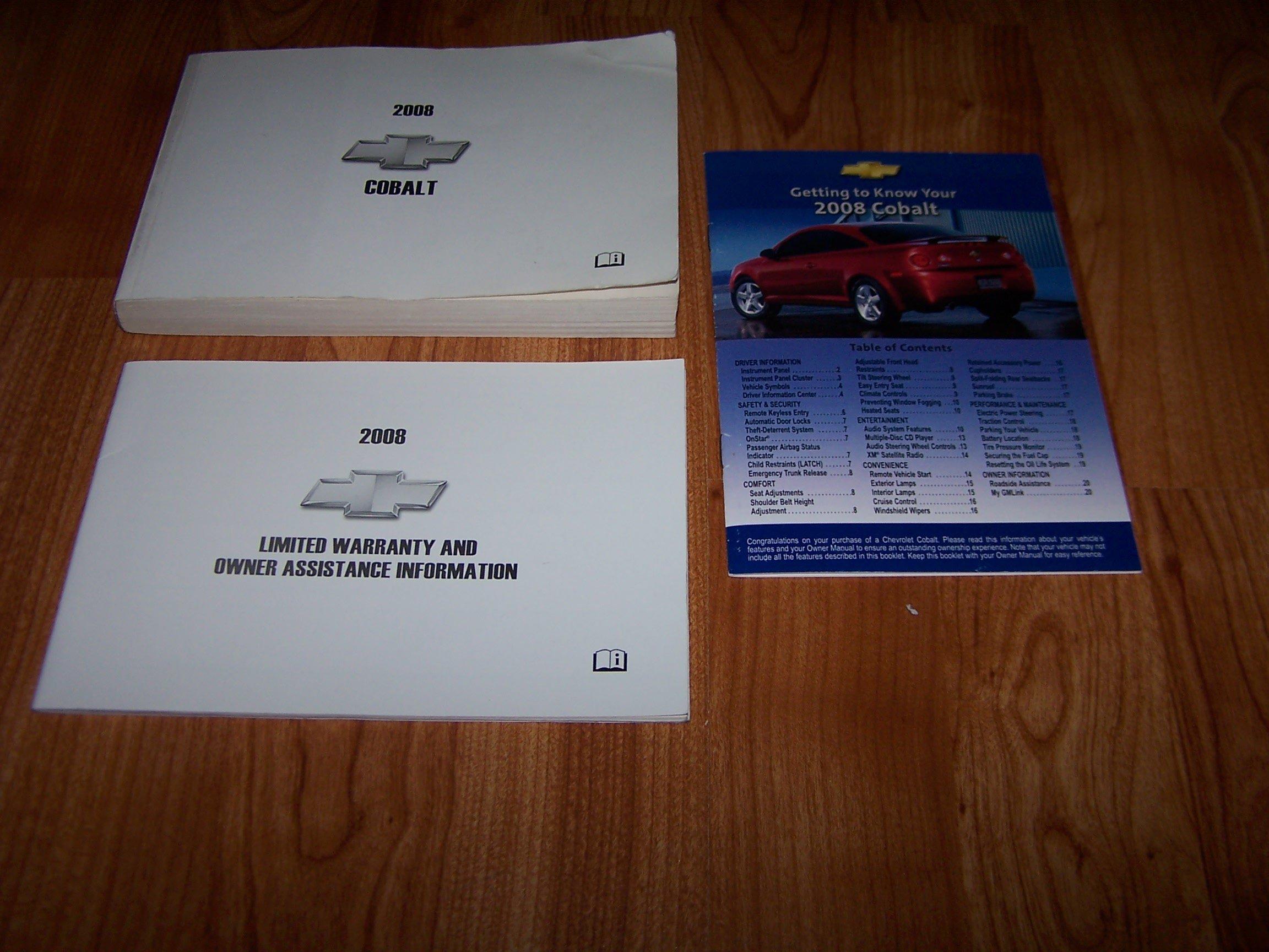 2008 chevrolet cobalt owners manual chevrolet amazon com books rh amazon com Chevy Corvette 2008 Cobalt LS Sedan Interior