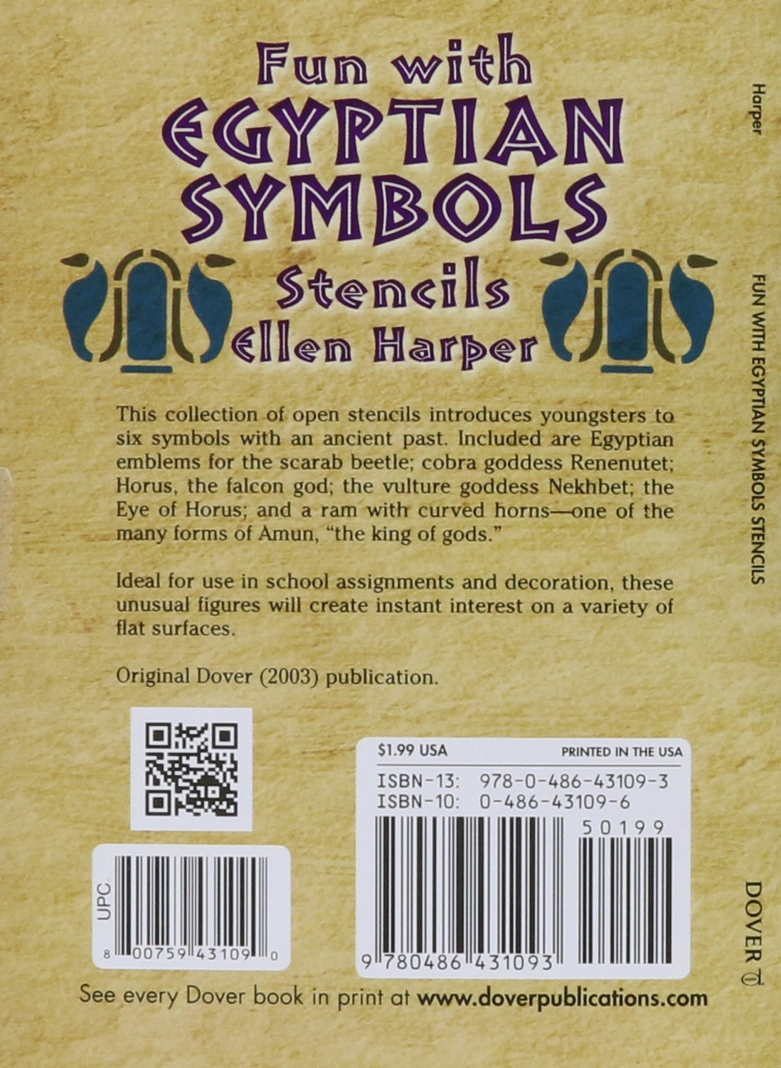 Fun with egyptian symbols stencils dover stencils ellen harper fun with egyptian symbols stencils dover stencils ellen harper 0800759431090 amazon books buycottarizona Gallery