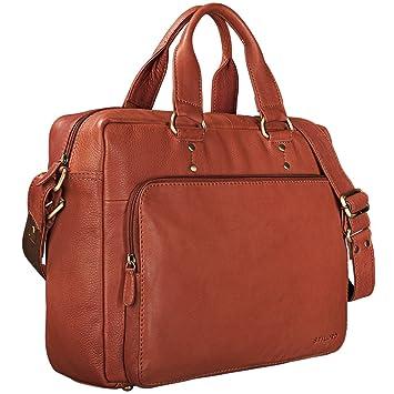 b3443d2446 STILORD 'Joshua' Vintage Sac d'affaires Cuir Grand Sac Laptop 13.3 Pouces  Sac