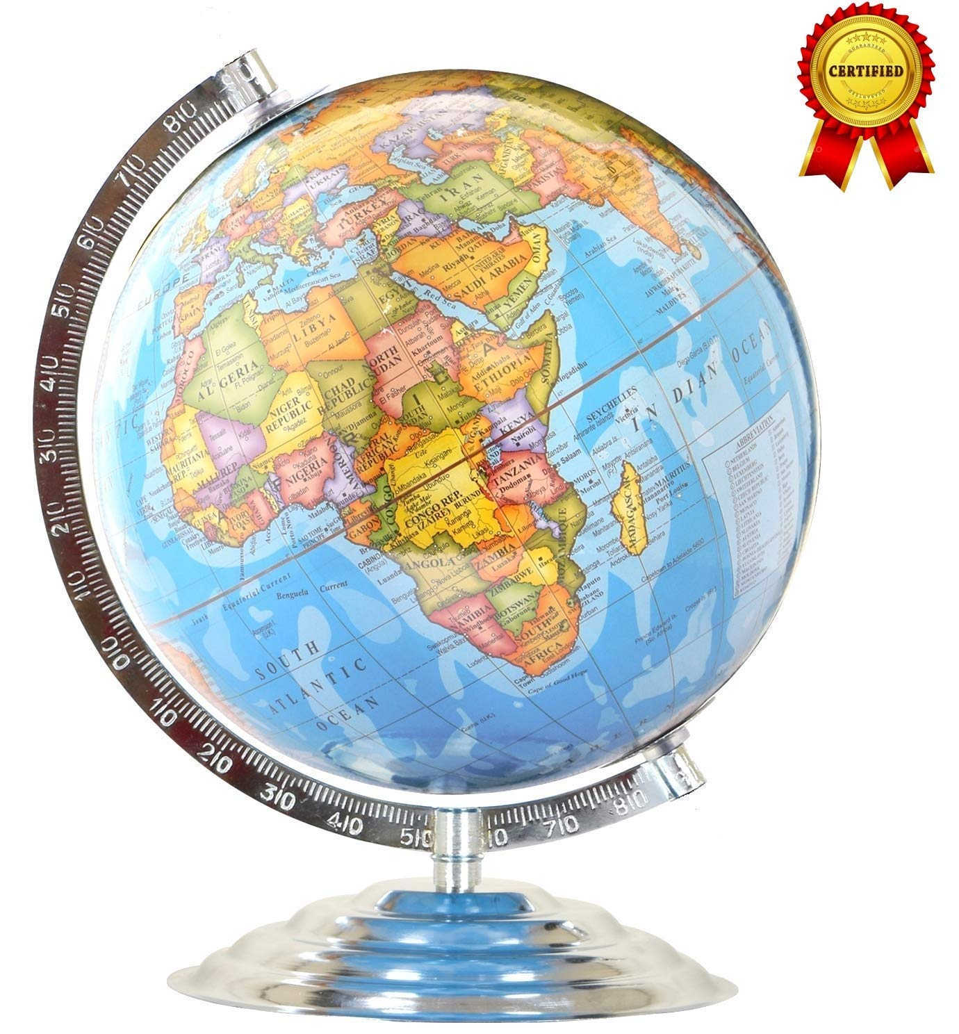 SB07 12 Inch Globe for Table/Globes for Student/World Map Globe/Home Decor/ Globe/Political Globe/Globe for Kids: Amazon.in: Toys & Games