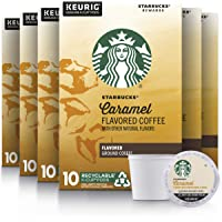 Starbucks Medium Roast K-Cup Coffee Pods — Caramel for Keurig Brewers — 6 boxes (60 pods total)