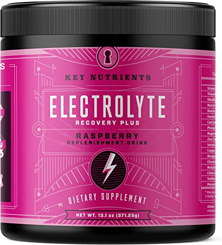 Electrolyte Powder, Raspberry Hydration Supplement 90 Servings, Carb, Calorie Sugar Free, Delicious Keto Replenishment Drink Mix. 6 Key Electrolytes – Magnesium, Potassium, Calcium More.