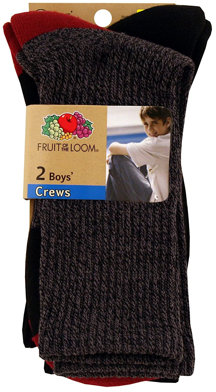 Fruit Of The Loom Big Boys Soft Rugged Crew Socks
