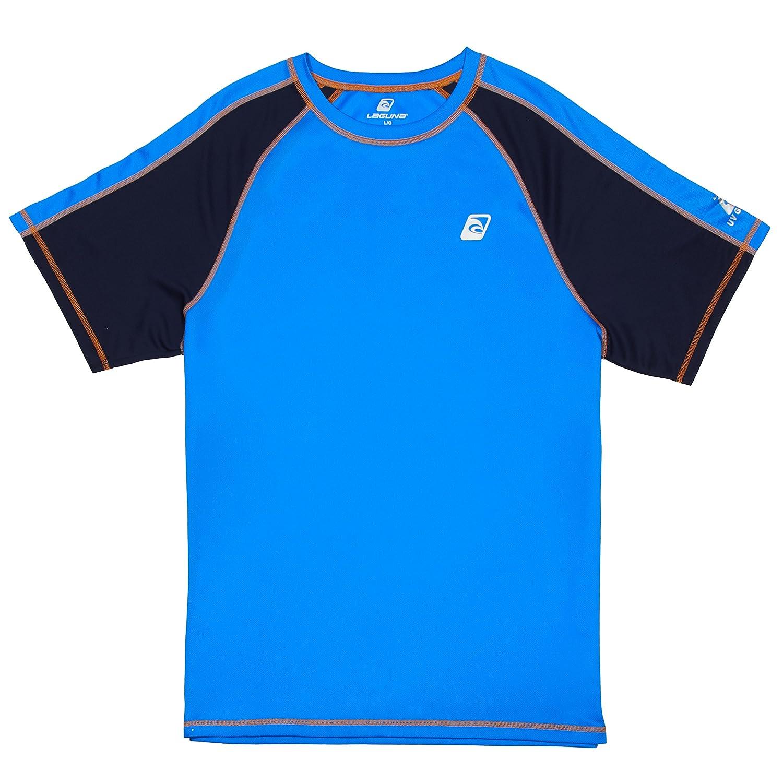 Lagunaメンズ UPF 50+ライフガードルーズフィットラッシュガード B075RTY744 X-Large|Amparo Blue Amparo Blue X-Large