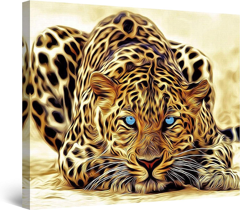 Startonight Canvas Wall Art Leopard - Animals Framed 32 x 32 Inches
