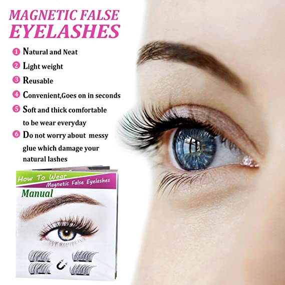 3d Magnetic False Eyelashes Multipackbeautylove Individual
