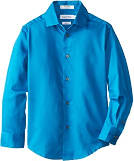 8f012a834e32 Amazon.com  Calvin Klein Boys  Long Sleeve Sateen Dress Shirt  Clothing