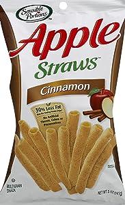 Sensible Portions Apple Straws, Cinnamon, 5 Oz (Pack of 12)