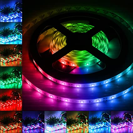 B2ocled 12V DC Flexible LED Strip Lights 16.4ft/5m LED Light Strips  sc 1 st  Amazon.com & Amazon.com: B2ocled 12V DC Flexible LED Strip Lights 16.4ft/5m LED ...