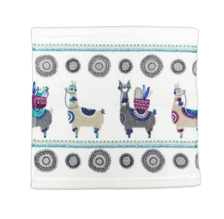 Artisan de Luxe Home Decorative Whimsical Llamas Carrying Desert Cacti Bathroom Towel (Wash Cloth)