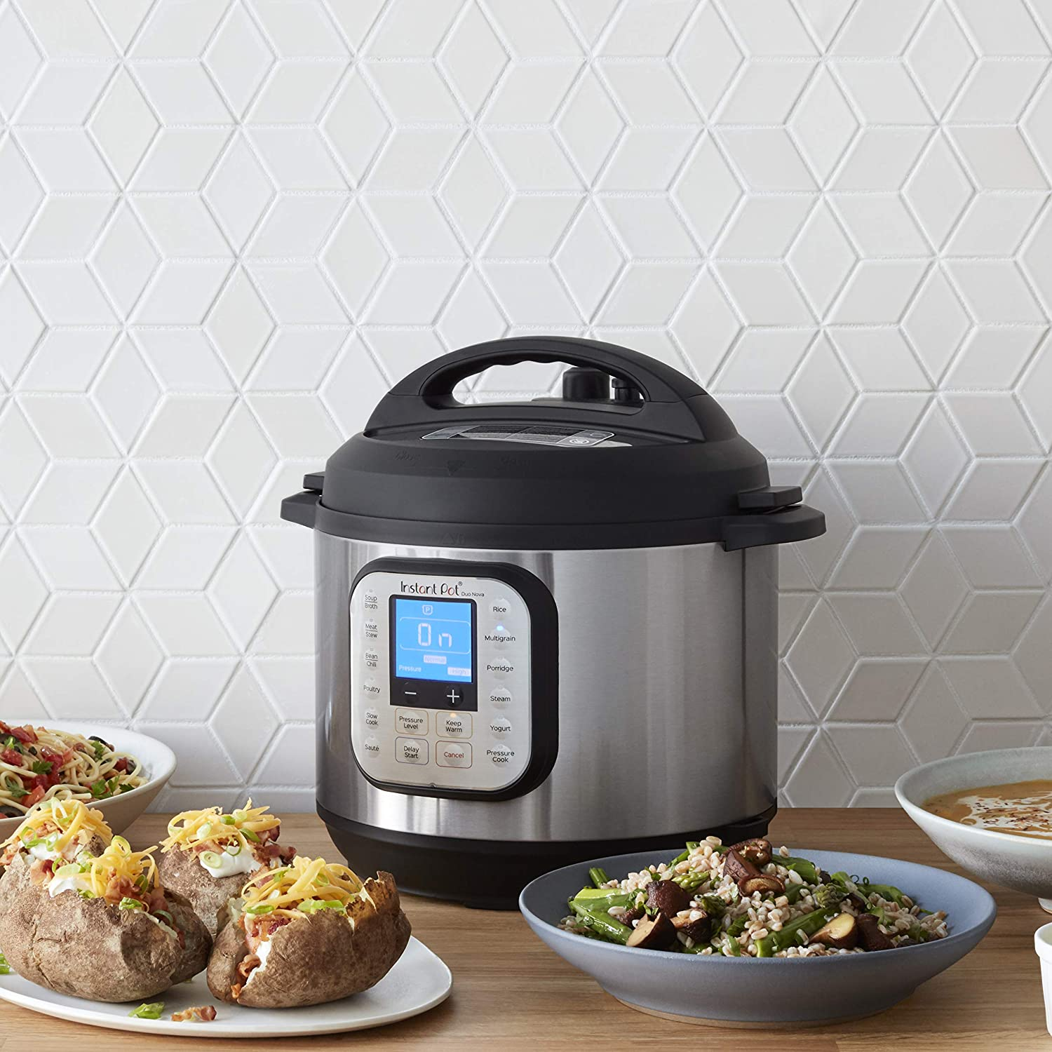 Instant Pot® DuoTM NovaTM 6-Quart 7-in-1, One-Touch Multi-Use Programmable Pressure Cooker, Slow Cooker, Rice Cooker, Steamer, Sauté, Yogurt Maker and Warmer with New Easy Seal Lid