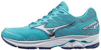 quality design 2025e aaec9 Mizuno Women s Wave Rider 20 Running Shoe, Blue Atoll Silver, ...