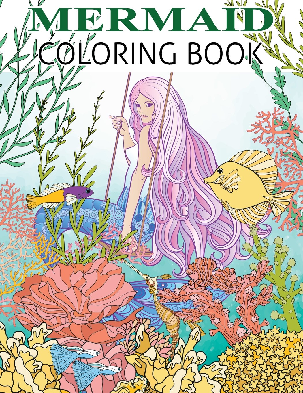 - Amazon.com: Mermaid Coloring Book: Mermaid Coloring Book For