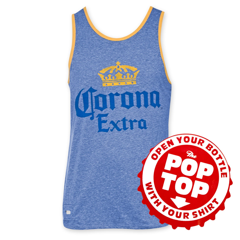 e6a3adcb8c1c0 Amazon.com  Corona Extra Men s Pop Top Bottle Opener Tank Top  Clothing