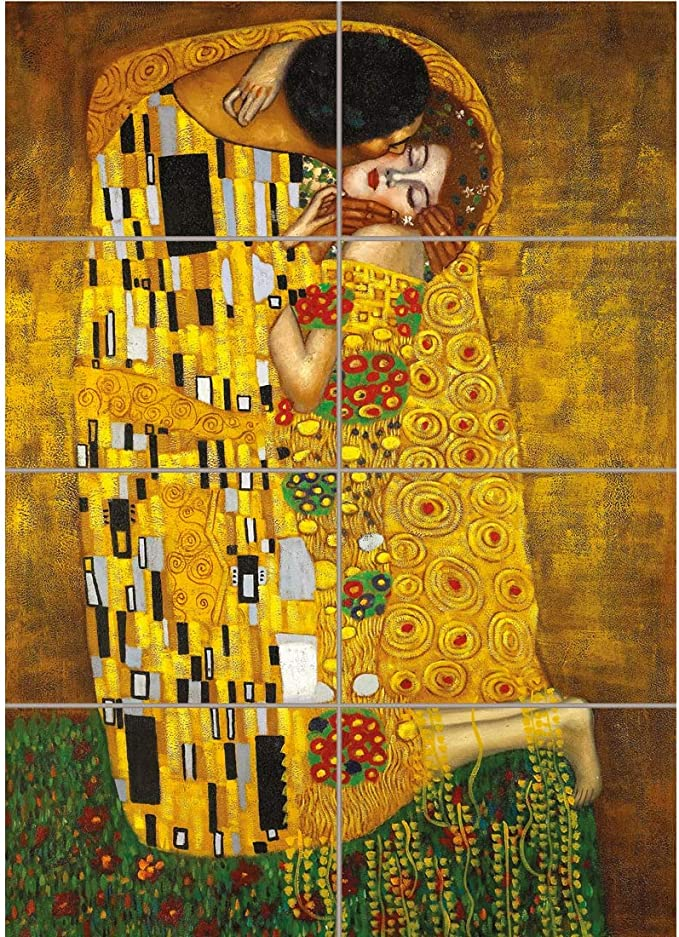 Doppelganger33ltd Gustav Klimt Symbolism Kiss Secession Abstract Giant Art Print Poster Pd1085 Posters Prints