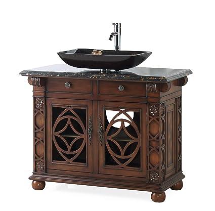 42 Benton Collection Gorgeous Vigo Vessel Sink Bathroom Vanity