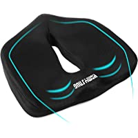 HOMYSNUG Memory Foam Seat Cushion With Anti-Slip Bottom, Pain Reducing Seat Pillow