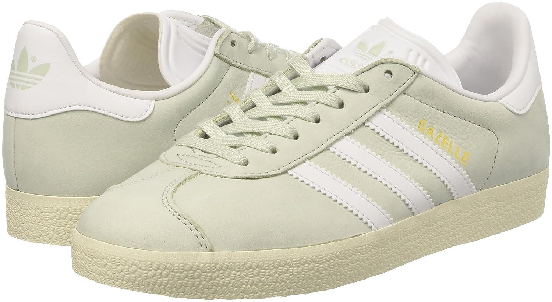 Adidas Damen Gazelle Grün/Footwear Sneakers Grün (Linen Grün/Footwear Gazelle Weiß/Cream Weiß) 3f0fa2