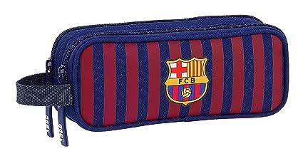 FC Barcelona Estuche portatodo Doble 2 Cremalleras Escolar.