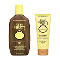 Sun Bum Sun Bum Original Spf 30 Sunscreen Lotion and Spf 50 Face Sunscreen Vegan and Reef Friendly (octinoxate & Oxybenzone Free) Broad Spectrum Moisturizing Uva/uvb Sunscreen With Vitamin E