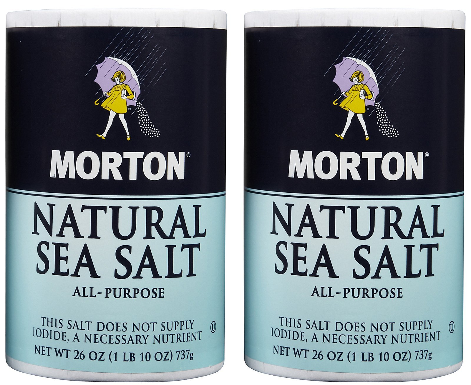 Morton Salt Natural Sea Salt - 26 oz - 2 Pack by Morton Salt (Image #1)