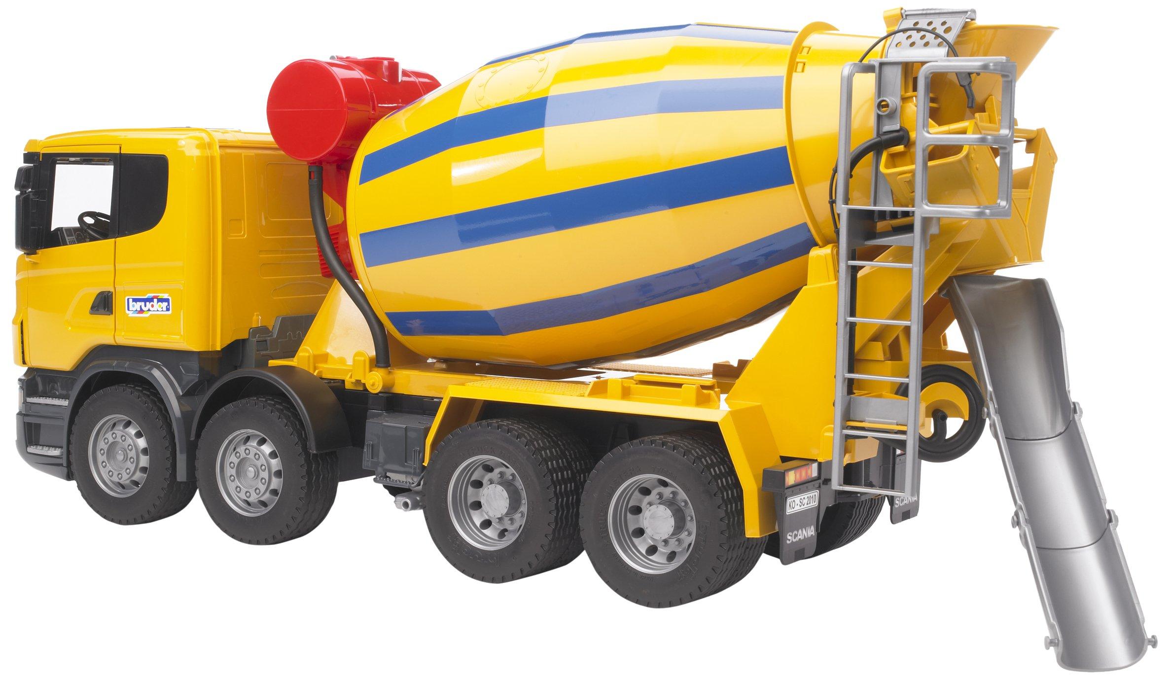 BRUDER - 03554 - Camion toupie à béton SCANIA R-serie - Jaune product image