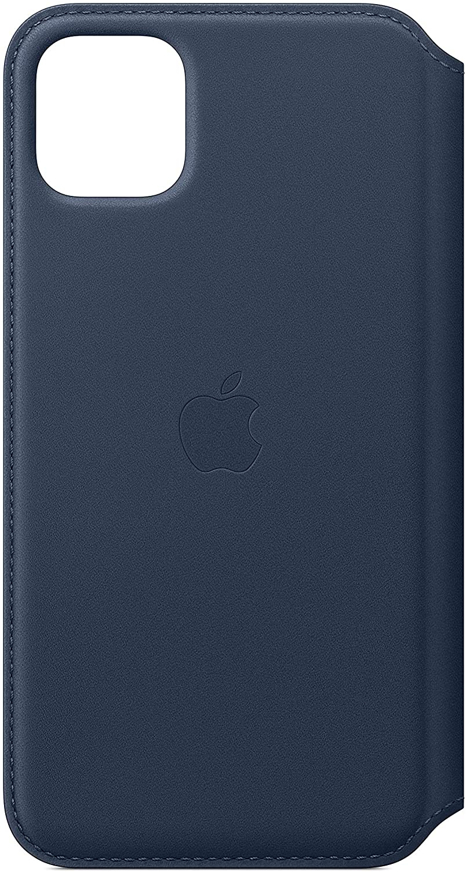 Apple Leather Folio (for iPhone 11 Pro Max) - Deep Sea Blue