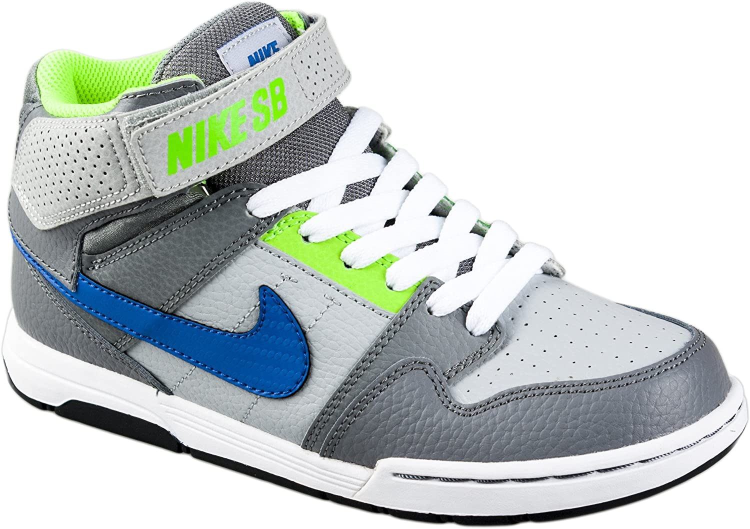 Nike Boys Mogan Mid 2 Jr Skateboarding-Shoes Pure Platinum//Rush Coral.