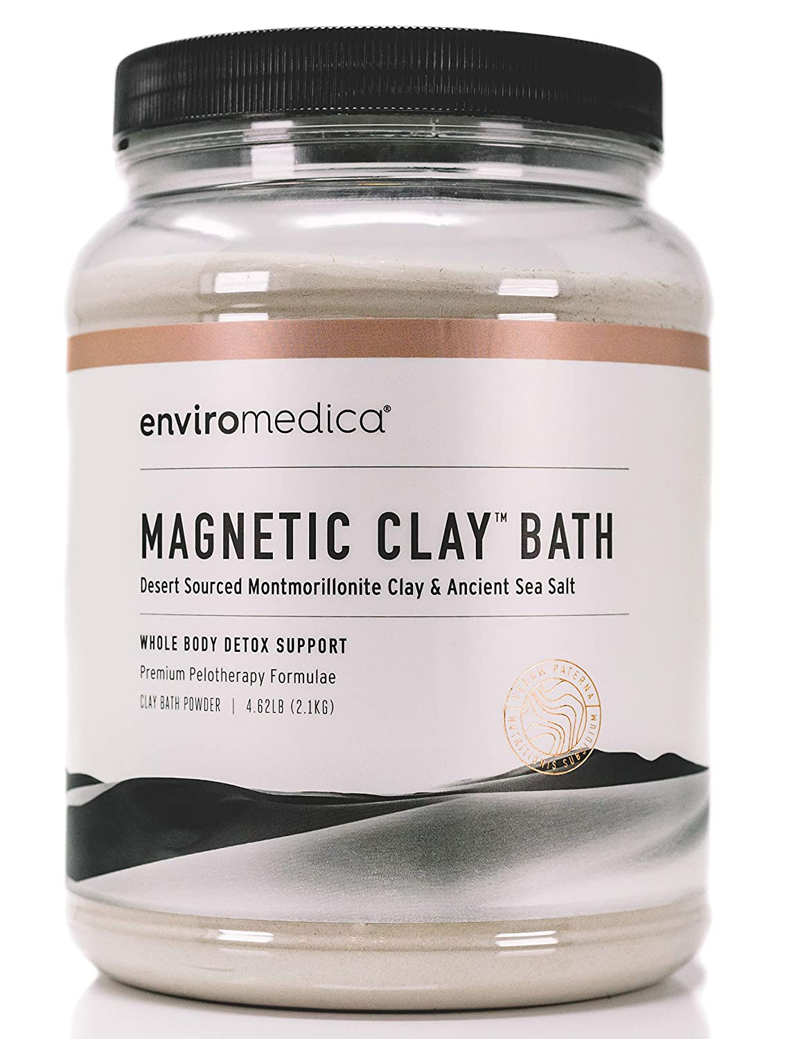 Enviromedica Magnetic Clay Natural Detox Bath Cleanse – Ancient Sodium and Calcium Bentonite Clay Powder with Himalayan Pink Salt for Detoxification of Harmful Toxins and Environmental Allergens