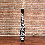 Leewadee Grande Vaso da Terra per Rami Decorativi Vaso Alto da Interno 90 cm, Legno di Mango, Nero