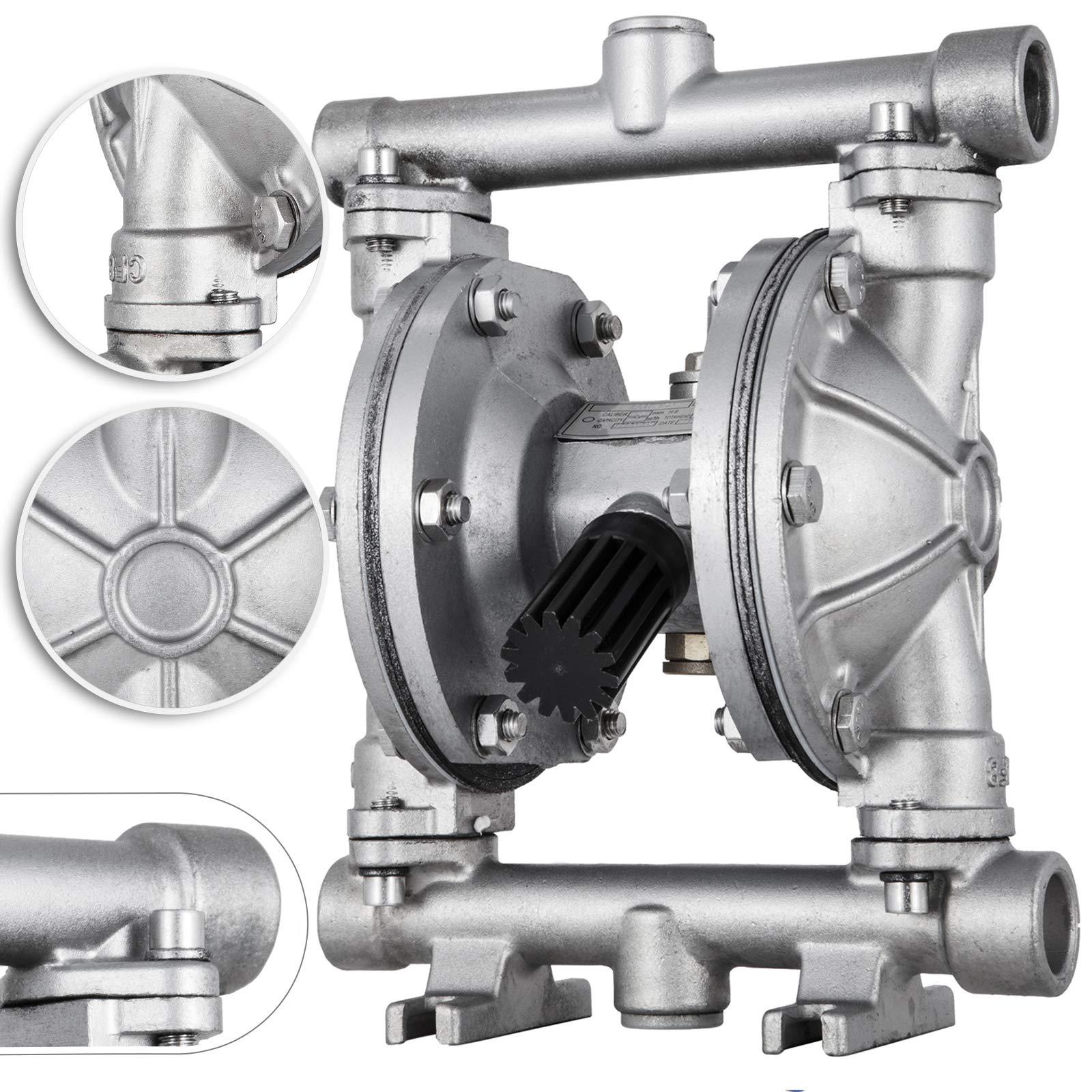 Happybuy Double Diaphragm Air Pump (QBK-15P - 1/2'' - 12 GPM - Stainless Steel)