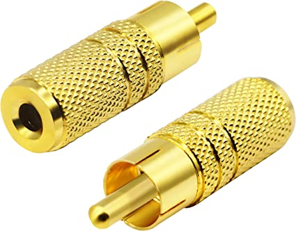 10pairs RCA Gold Solder Type Male Jack Plug Adapter Connector Convertor