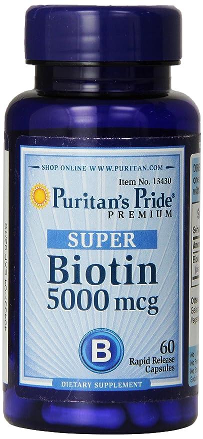 Biotina 5000 mcg 60 cápsulas.