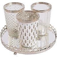 Cristal de candelabro con placa de espejos Soporte