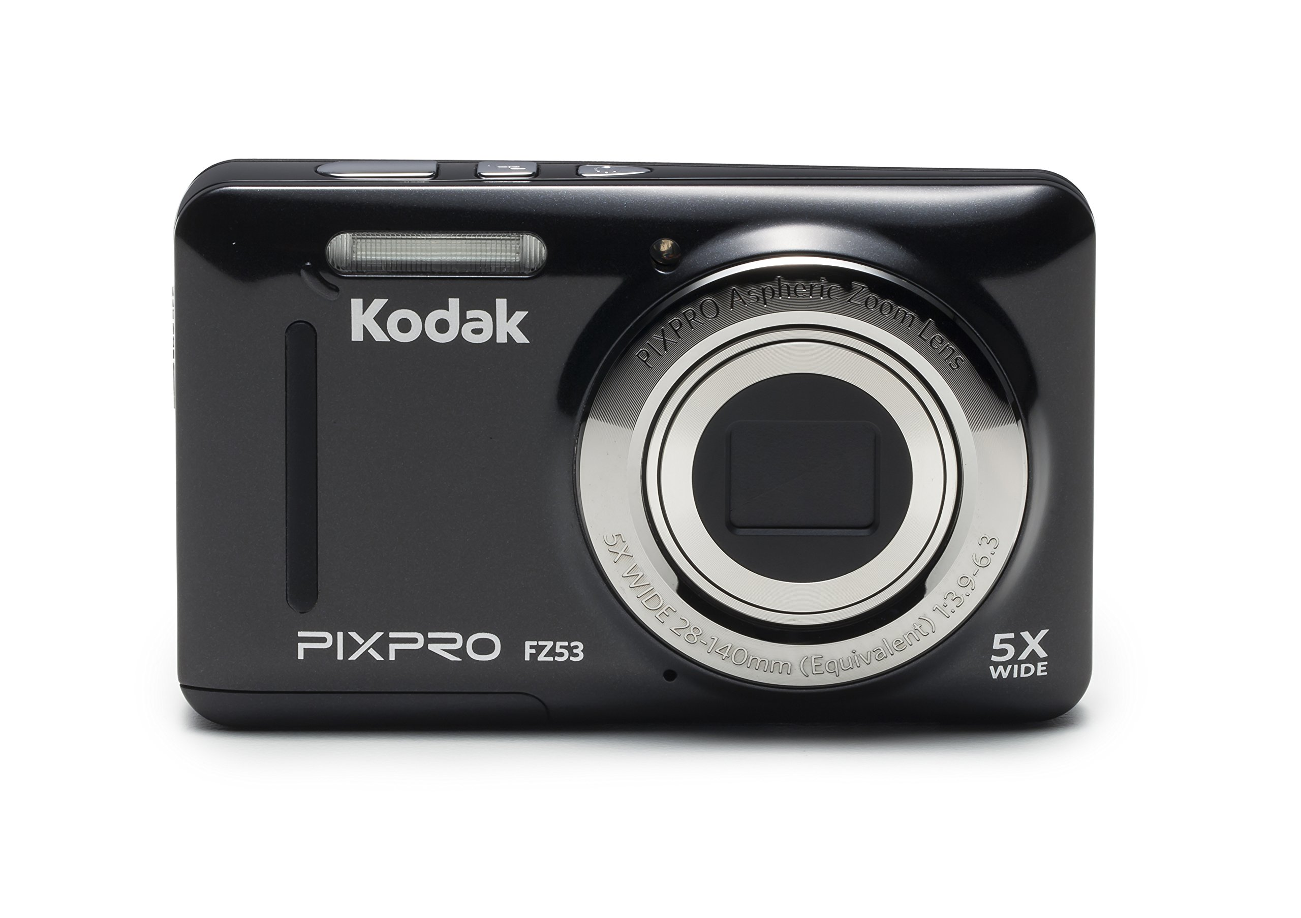 Kodak PIXPRO Friendly Zoom FZ53-BK 16MP Digital Camera with 5X Optical Zoom and 2.7'' LCD Screen (Black) by Kodak
