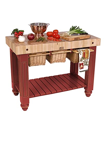 Amazon.com: American Heritage Kitchen Island with Butcher ...